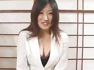 Good looking brunette Japanese babes have a massive casting session