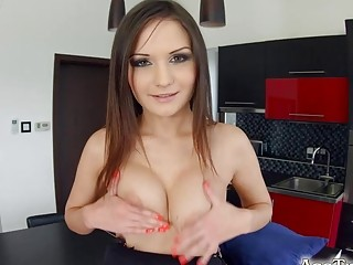 Asstraffic brunette gets all holes filled in this session
