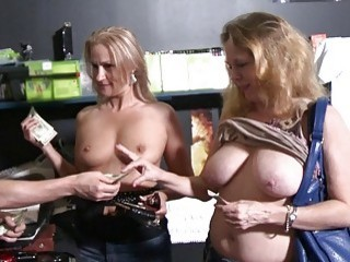 Hot women convinced to flash their tits