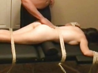 Tied Flogged and fucked hard