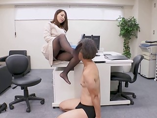 Asian secretary fucked by her boss while in the office