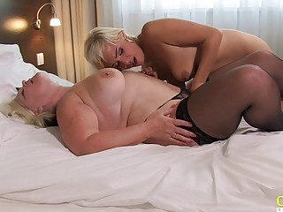 OldNannY Horny Mature and Hot Teen Lesbian Sex