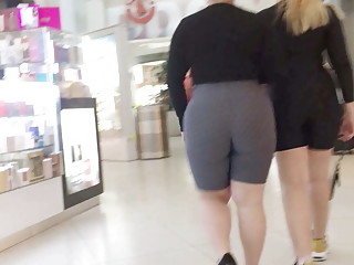 Two Round Booty Latinas in Spandex