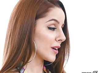 Throated - Sexy Redhead Vanna Bardot Sloppily Throat Fucked