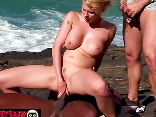 Smut Puppet - Outdoor Anal with Busty MILFs Compilation 1
