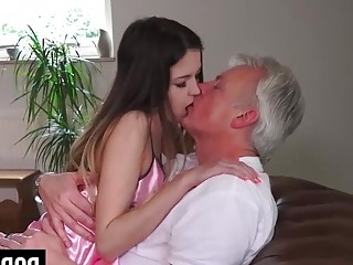 Pornwarz - Innocent babe fucked by Grandfather