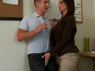 First anal sex with seductive mature teacher Syren De Mer