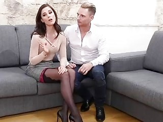Jenifer Jane, Little Caprice and Anastasia Brokelyn are fucking horny guys in the middle of the day