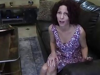 Slim brunette with curly hair is in the mood to get fucked from the back
