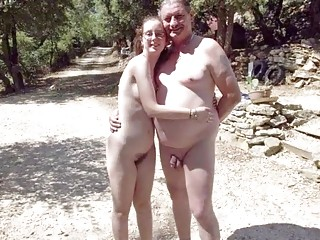 French nudist family photo compilation