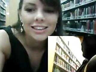 Masturbating In Public School Library On Webcam