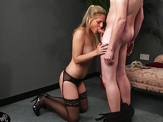 Cock hungry British slut loves giving head