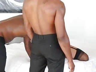 Lisa Ann is into interracial gangbangs and likes to feel two cocks inside her, quite often