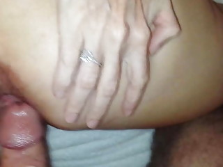 milf anal fuck ends with a creampie