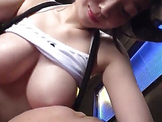 Busty girl massage for her man with toys pt03