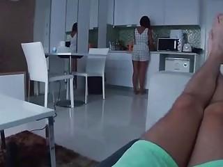 Cute thai girlfriend massages boyfriends cock with oil