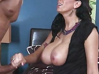 Brunette milf ass to mouth with cumshot