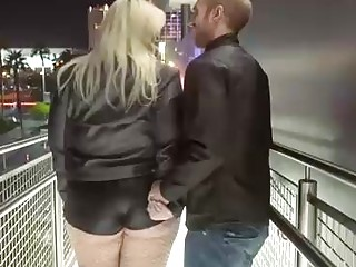 Tiffany Starr is bbw who meets strangers to have sex, in front of her large window