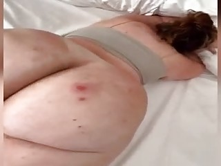 Big ass woman is eager to get fucked from the back, in front of the camera