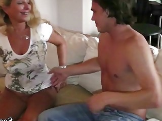 German Amateur MILF Bi-Jenny Teach Teen Guy How to Fuck right