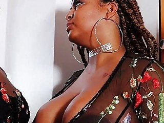 Black dick Porn Two Full-figured Ebony Sluts Love To Play Lesbian Games, Lesbians