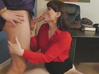Mesmerizing Natalie Mars fucks in sexy stockings with boss