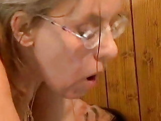 Nerd Fucks Ugly Granny in the Ass