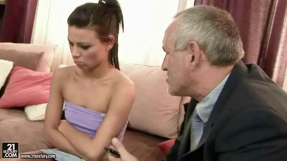 Old Man Young Girl Fingering