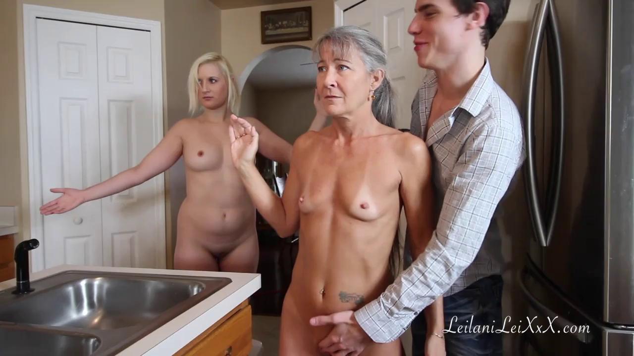 Hot Blonde Mom Seduces Son